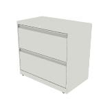 "H872 | HON Brigade 800 Series Lateral File | 2 Drawers | 30""W x 18""D"