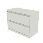 "H882 | HON Brigade 800 Series Lateral File | 2 Drawers | 36""W x 18""D"