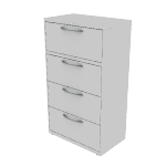"H9174A | HON Flagship Lateral File | 4 Drawers | 30""W x 18""D"