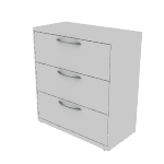 "H9183A | HON Flagship Lateral File | 3 Drawers | 36""W x 18""D"