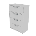 "H9184A | HON Flagship Lateral File | 4 Drawers | 36""W x 18""D"