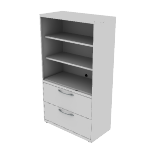 "H9185LSNA | HON Flagship Lateral File | Open Shelves | 36""W x 18""D"
