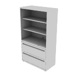 "H9185LSNN | HON Flagship Lateral File | Open Shelves | 36""W x 18""D"