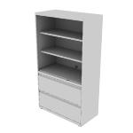 "H9185LSNR | HON Flagship Lateral File | Open Shelves | 36""W x 18""D"