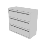 "H9193N | HON Flagship Lateral File | 3 Drawers | 42""W x 18""D"