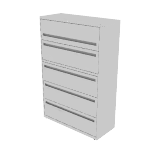 "H9195N | HON Flagship Lateral File | 5 Drawers | 42""W x 18""D"