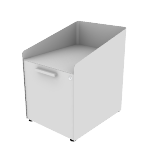 "HAPGBP19SNPT | HON Fuse Freestanding Pedestal | Alcove with Tray / 15"" Bin with Tray 