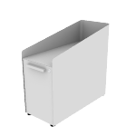 """HAPGBS23SNPT   HON Fuse Freestanding Slim Pedestal   9"""" Box with Tray / 15"""" Bin without Tray   23""""D"""