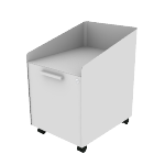"HAPMBP19SNPT | HON Fuse Mobile Pedestal | Alcove with Tray / 15"" Bin with Tray 