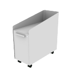 "HAPMBS23SNPT | HON Fuse Mobile Slim Pedestal | Alcove with Tray / 15"" Bin with Tray 