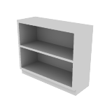 "HS30ABC | HON Brigade Steel Bookcase | 2 Shelves | 34 1/2""W x 12 5/8""D"