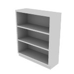 "HS42ABC | HON Brigade Steel Bookcase | 3 Shelves | 34 1/2""W x 12 5/8""D"