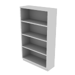 "HS60ABC | HON Brigade Steel Bookcase | 4 Shelves | 34 1/2""W x 12 5/8""D"