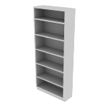 "HS82ABC | HON Brigade Steel Bookcase | 6 Shelves | 34 1/2""W x 12 5/8""D"