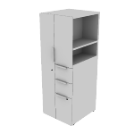 "HLSLW085L | HON Voi Storage Tower | Left Hand Door | 18""W x 20""D"