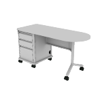 "HLT2460T-L3 | HON SmartLink Teacher Station | Left Pedestal | 2 Box Drawers / 1 File Drawer | 60""W"