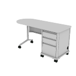"HLT2460T-R3 | HON SmartLink Teacher Station | Right Pedestal | 2 Box Drawers / 1 File Drawer | 60""W"