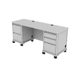 "HLT2672T-23 | HON SmartLink Teacher Station | 2 Box Drawers / 3 File Drawers | 72""W"