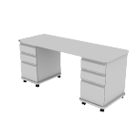 "HLTV2466T-33 | HON SmartLink Teacher Station | 2 Box Drawers / 3 File Drawers | 66""W"