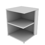 "H105525R | HON 10500 Series Square End Cap Bookshelf | 4 Fixed Shelves | 24""W"