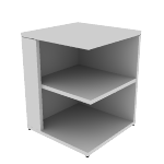 "H105526L | HON 10500 Series Square End Cap Bookshelf | 2 Fixed Shelves | 24""W"