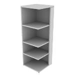 "H105527R | HON 10500 Series Square End Cap Bookshelf | 4 Fixed Shelves | Right | 24""W"
