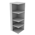 "H105528L | HON 10500 Series Square End Cap | 4 Fixed Shelves | 24""W"