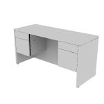 "H10565 | HON 10500 Series Credenza w/Kneespace | 2 Box / 2 File Drawers | 60""W"