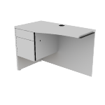 "H105818L | HON 10500 Series Return | Curved | 1 Box / 1 File Drawer | Left | 42""W"