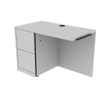 "H105908L | HON 10500 Series Return | 2 File Drawers| Left | 42""W"