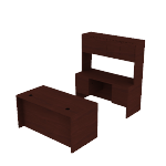 H105DCH6098N | 10500 60W Desk Cred Stack 3/4 Mahogany