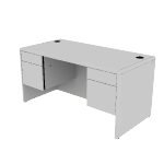 "H10771 | HON 10700 Series Double Pedestal Desk | 2 Box / 2 File Drawers | 60""W"