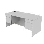 "H10775 | HON 10700 Series Double Pedestal Desk | 2 Box / 2 File Drawers | 66""W"