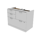 "H11505 | HON Valido Multi File Pedestal | 36""W"