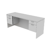"H11543 | HON Valido Double Pedestal Credenza | Kneespace | 2 Box / 2 File Drawers | 72""W"