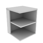 "H115526L | HON Valido Square End Cap Bookshelf | 2 Shelves | Left | 24""W"