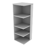 "H115527R | HON Valido Square End Cap Bookshelf | 4 Shelves | Right | 24""W"
