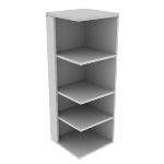 "H115528L | HON Valido Square End Cap Bookshelf | 4 Fixed Shelves | Left | 24""W"