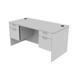 "H11573 | HON Valido Double Pedestal Desk | Rectangle Top | 2 Box / 2 File Drawers | 60""W"