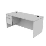 "H11584L | HON Valido Single Pedestal Desk | Rectangle Top | Left | 66""W"
