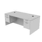 "H11593 | HON Valido Double Pedestal Desk | 2 Box / 2 File Drawers | 72""W"