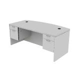 "H11595 | HON Valido Double Pedestal Desk | Bow Top | 2 Box / 2 File Drawers | 72""W"