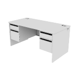 "H38155 | HON 38000 Series Double Pedestal Desk | 2 Box / 2 File Drawers | 60""W"