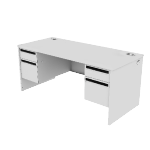 "H38170 | HON 38000 Series Double Pedestal Desk | 2 Box / 2 File Drawers | 66""W"