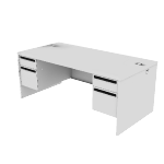 "H38180 | HON 38000 Series Double Pedestal Desk | 2 Box / 2 File Drawers | 72""W"