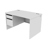"H38252L | HON 38000 Series Single Pedestal Desk | 1 Box / 1 File Drawer | Left | 48""W"