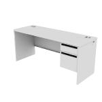 "H38858R | HON 38000 Series Single Pedestal Credenza | 1 Box / 1 File Drawer | Right | 66""W"