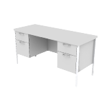"H88231 | HON Mentor Series Double Pedestal Credenza | Kneespace | 2 Box / 2 File Drawers | Chrome Legs | 60""W"