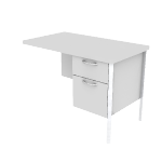 "H88235R | HON Mentor Series Return | 1 Box / 1 File Drawer | Chrome Legs | Right | 42""W"