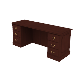 "H94243 | HON 94000 Series Double Pedestal Credenza | Kneespace | 2 Box / 2 File Drawers | 72""W"